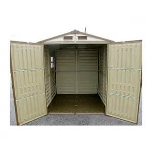 buy storemore woodside steel framed vinyl apex shed 6x6
