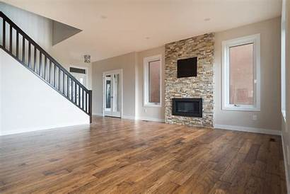Empty Living Open Concept Entrance Rooms Fireplaces