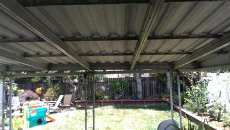 converting aluminum awning  woodcomposite ceiling doityourselfcom community forums