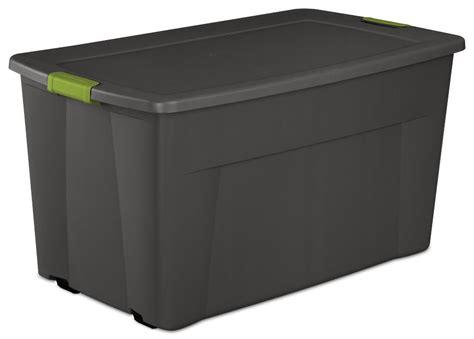(4) Sterilite 19481004 45 Gallon Plastic Storage Container