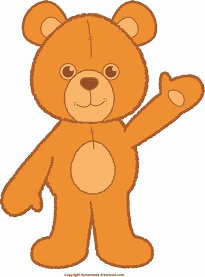 Bear Teddy Clip Clipart Orange Bow Preschool