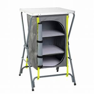 Table De Camping Gifi : garde manger camping gris vert mobilier couchage ~ Melissatoandfro.com Idées de Décoration