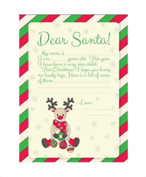 letter to santa template santa letter format letters font 28753