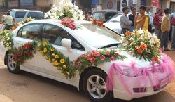 wedding car decoration shadi  lie car sajawat  kolkata