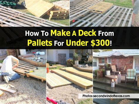 how to make a deck from pallets for 300