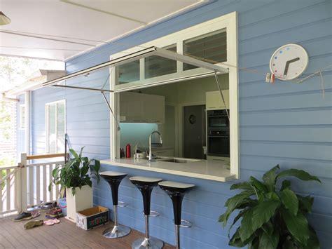 kitchen island counter gas strut windows decorative glass aluminium pty ltd