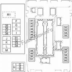 Fuse Box Diagram Nissan Murano  Z51  2009