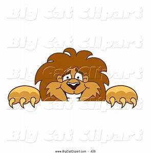 Big Cat Cartoon Vector Clipart of a Smiling Lion Character ...
