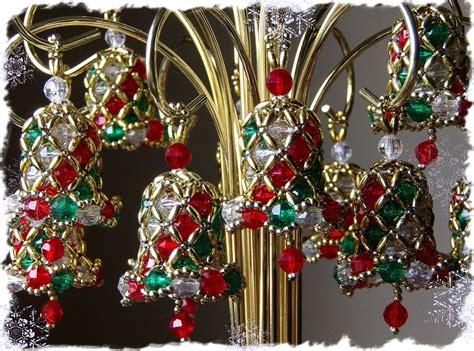 Hand Made Beaded Christmas Bells
