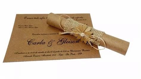 100 Convites Padrinho/casamento Pergaminho Muito Lindo