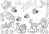 Coloring Insect Pages Bumblebee Animal Print sketch template