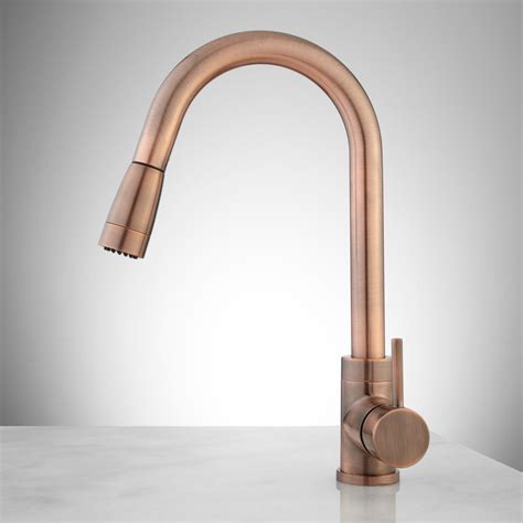 Copper Faucet Kitchen by Finite Single Kitchen Faucet With Swivel Spout And