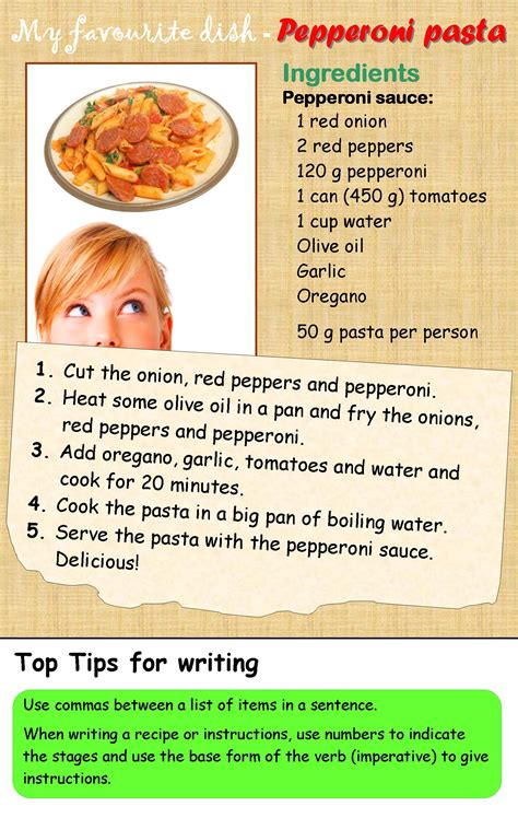and recipe a recipe learnenglishteens