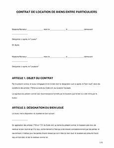 Vente Entre Particulier Objet : mod le de contrat de location de biens ~ Gottalentnigeria.com Avis de Voitures