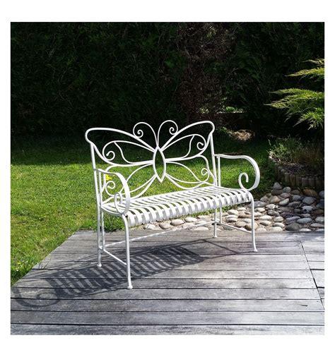 panchina in ferro battuto panchina da giardino in ferro battuto bianco mobili da