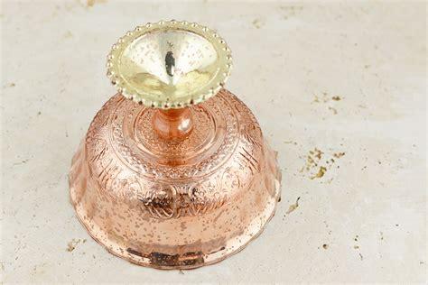 gold mercury glass compote mercury glass compote gold 7x5 5in