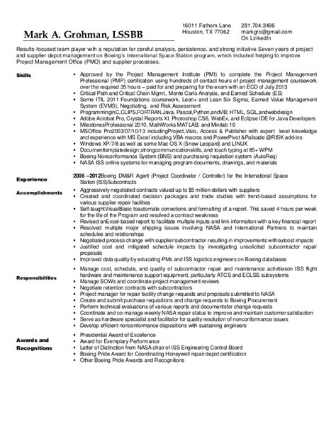 grohman resume with recommendation