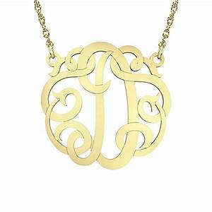 buy alison ivy 14k yellow gold over sterling silver 18 With gold letter chain
