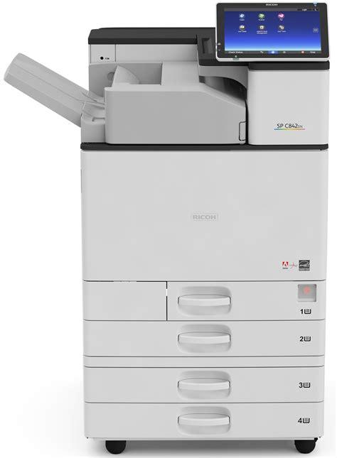 colored laser printer ricoh aficio sp c840dn color laser printer copyfaxes