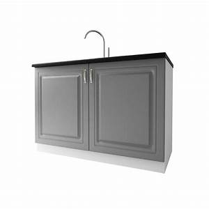Meuble Sous Evier 120 : meuble de cuisine sous vier 2 portes 120 cm dina en ~ Nature-et-papiers.com Idées de Décoration
