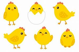 Cute baby chickens + patterns ~ Illustrations ~ Creative ...