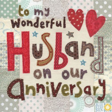 Premium cards (10) embossed (1) premium. Wonderful Husband On Our Anniversary Card - Large, luxury anniversary card - Karenza Paperie
