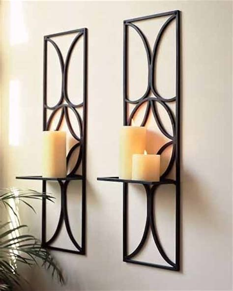 wall candle holders candle holders and candles on