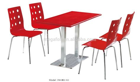 european style fast food restaurant dining table