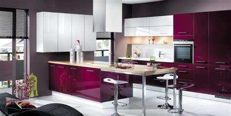 deco cuisine violet style décoration cuisine gris et violet
