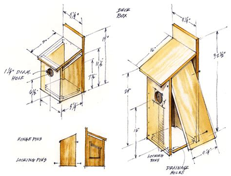 wood duck houses plans  woodworking