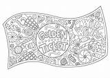 Ticket Wonka Willy Golden Coloring Pages Colouring Template Charlie Chocolate Factory Roald Dahl Crafts Hobbycraft Printable Sheets Printables Bar Welcome sketch template
