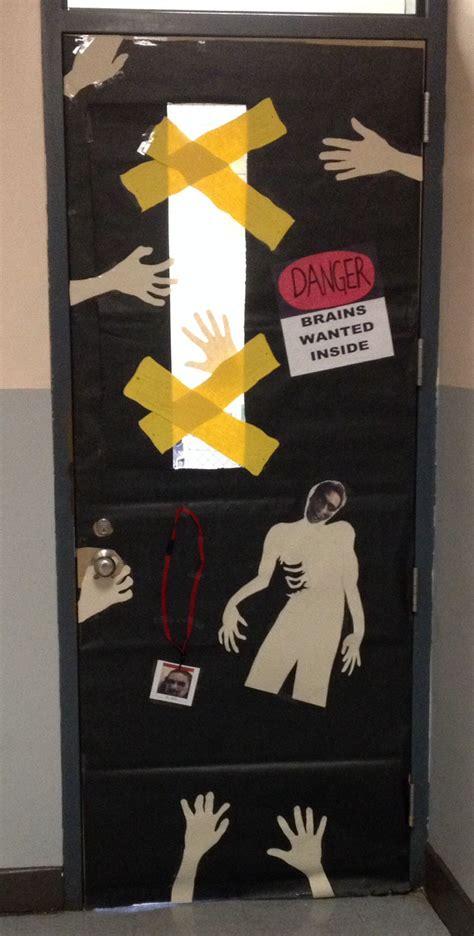 zombie door decoration trending decor halloween door