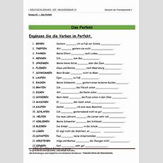A1  Das Perfekt  Worksheets, Printables And Studentcentered Resources