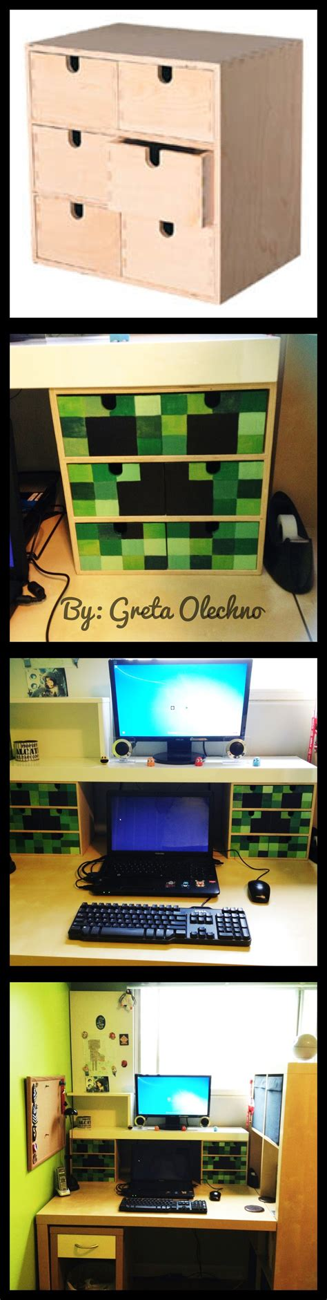 Minecraft Bedroom Drawers by This Was My Weekend Project For My S Room Minecraft