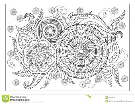 image  adult coloring page stock vector image
