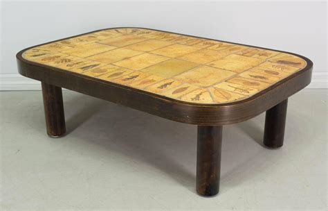 ceramic tile kitchen tables roger capron ceramic tile top coffee table for at 1stdibs 5202