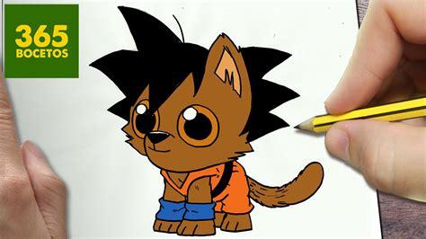 como dibujar goku perro kawaii paso  paso dibujos kawaii faciles   draw  goku dog