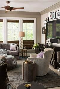 Chic, Living, Room, In, Gray, U0026, Neutral, Tones