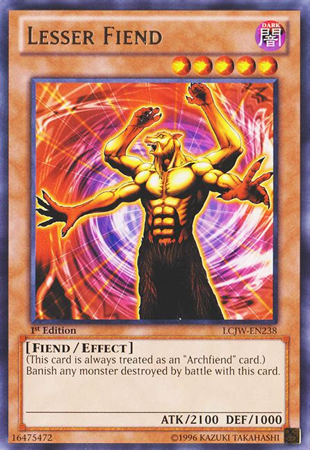 lesser fiend yu gi oh it s time to duel
