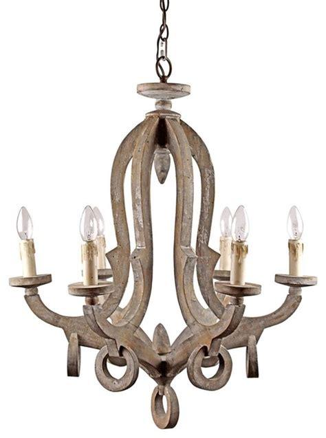 Wood Orbit Chandelier by Farmhouse 6 Light Candle Style Wooden Chandelier