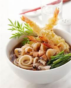 Japanese Food Ebi-ten Udon, Shrimp Tempura Udon Noodles ...