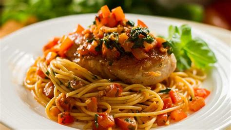 garlic basil chicken breasts  spaghetti easy meals