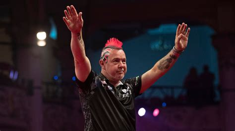 world matchplay darts results peter wright hits  checkout  rob cross storms  quarter