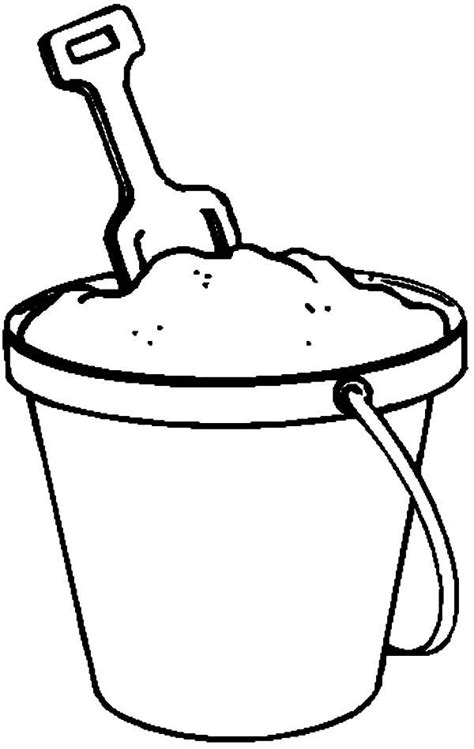 Kleurplaat Strandemmer by Fill With Sand Coloring Pages
