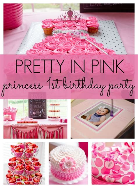 Pretty In Pink First Birthday Party  Pretty My Party