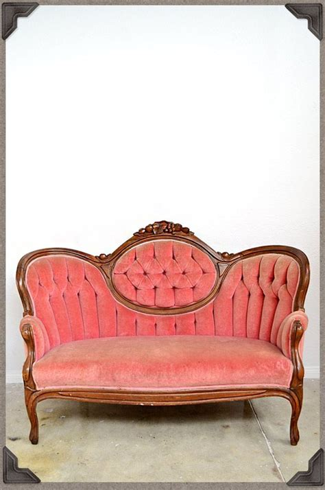 pink velvet settee vintage settee antique pink velvet sofa in the pink