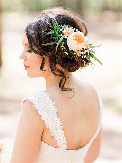 wedding hair ideas wedding hairstyles  real flowers