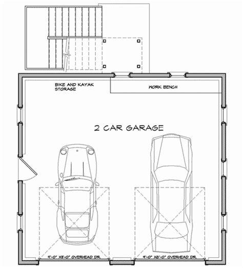 2 floor plans with garage economical two car garage with storage 12435ne