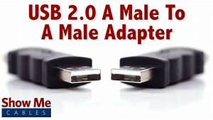 Easy To Use Usb 2 0 A Male To A Male Adapter