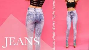 Body Fitting High Waist Jeans And More